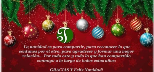 Les deseamos lo mejor en estas navidades, que la luz de la providencia divina esté presente para traerles amor, unión, felicidad, paz, armonía, alegría, prosperidad, salud y todos sus mejores deseos!