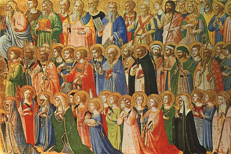 The Forerunners of Christ with Saints and Martyrs (about 1423-24) Tempera on wood, 31,9 x 63,5 cm cm National Gallery, London Author: en:Fra Angelico Created: en:15th Century Tomado de Wikipedia